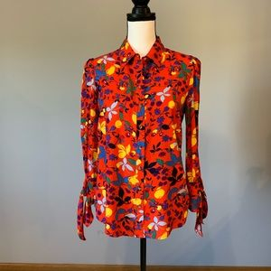 Philosophy Blouse tie sleeves size s NWT